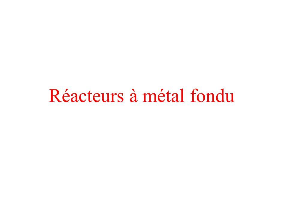 Réacteurs à métal fondu