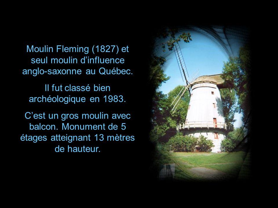 Moulin de lÎle St-Bernard construit par Charles LeMoyne fils en 1686 Restauré en 1865 par les Sœurs Grises, elles en firent un oratoire en 1865 et recouvrirent le moulin dune coupole surmontée de la statue de St-Joseph.