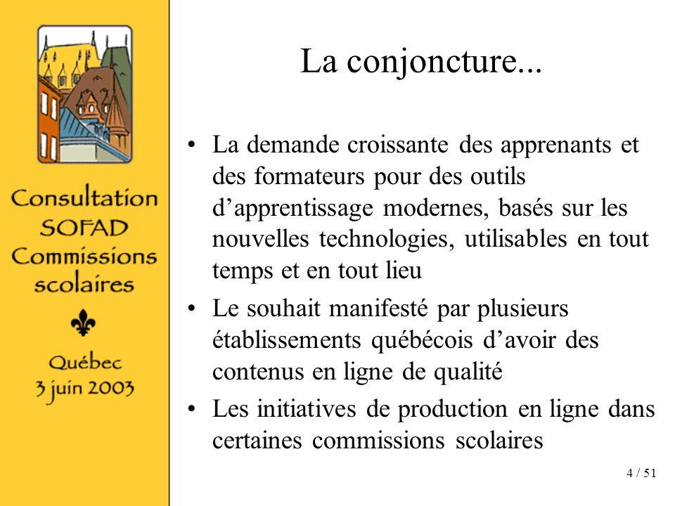 4 / 51 La conjoncture...
