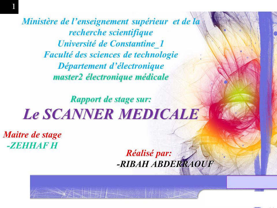 1 Ministère de lenseignement supérieur et de la recherche scientifique Université de Constantine_1 Faculté des sciences de technologie Département dél