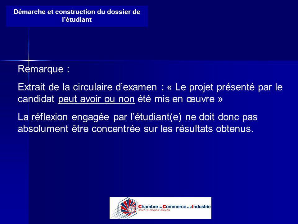 Lycée B de Perthes - Abbeville Lycée De Gaulle - Vannes Démarche et construction du dossier de létudiant Remarque : Extrait de la circulaire dexamen :
