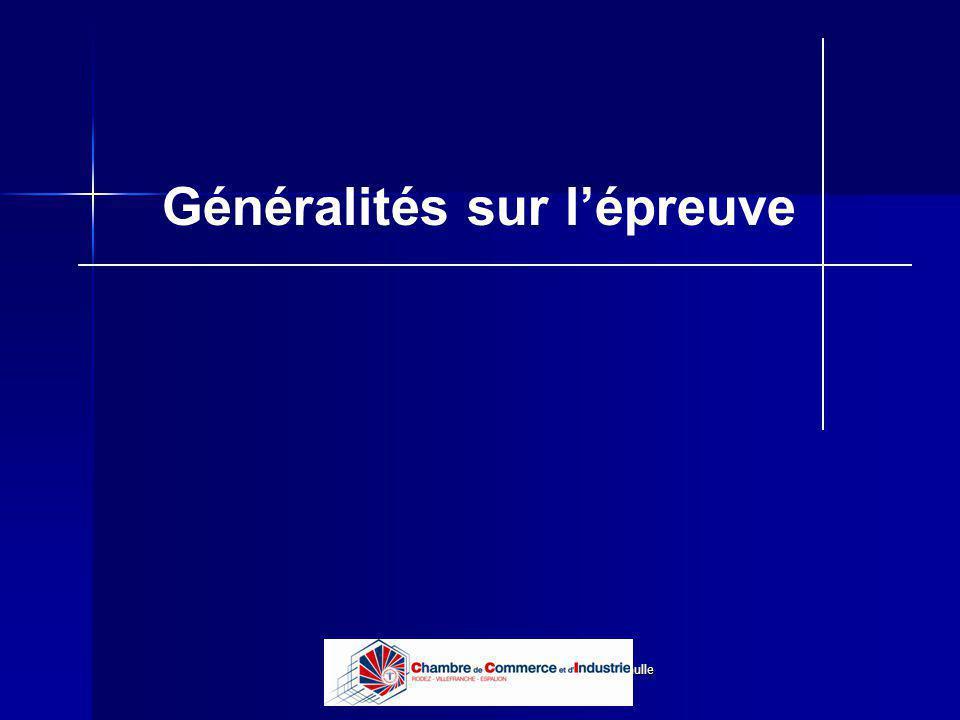 Lycée B de Perthes - Abbeville Lycée De Gaulle - Vannes Généralités sur lépreuve