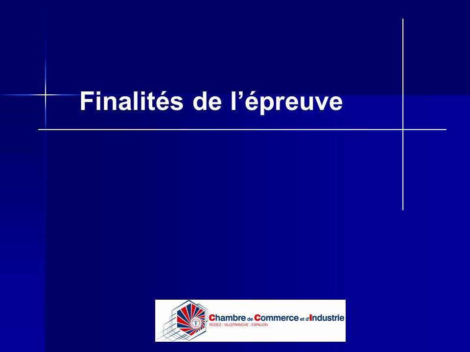 Lycée B de Perthes - Abbeville Lycée De Gaulle - Vannes Finalités de lépreuve