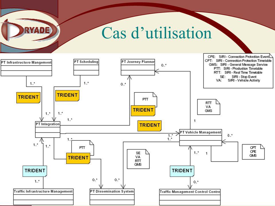 Dryade – Société Anonyme au capital de 38000 223 avenue Pierre Brossolette - 92120 Montrouge Tél 01 42 31 27 22 - Fax 01 42 31 29 66 - www.dryade.net Cas dutilisation TRIDENT