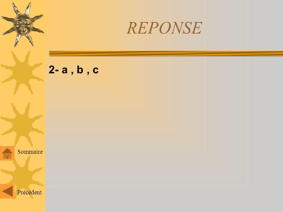 1- b, d, e Précédent Sommaire