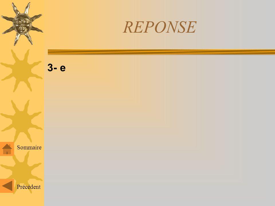 REPONSE 2- a, b, c Précédent Sommaire