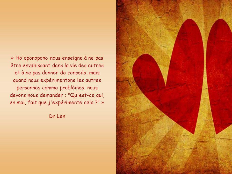 « Nous sommes ici seulement pour apporter de la paix à notre propre vie, et si nous apportons de la paix à notre propre vie, tout, autour de nous, tro