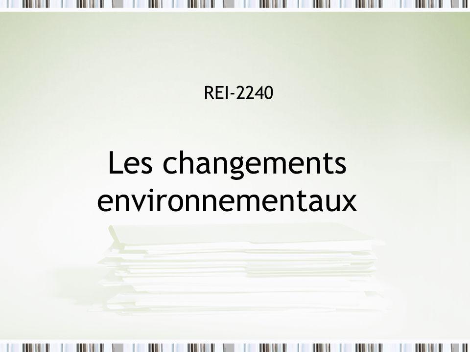 Le plan de la séance Changements environnementaux La nature des changements 1.Démographiques et socioculturels 2.Technologiques 3.Économiques 4.Politiques 5.Organisationnels Comprendre les changements Pourquoi sadapter