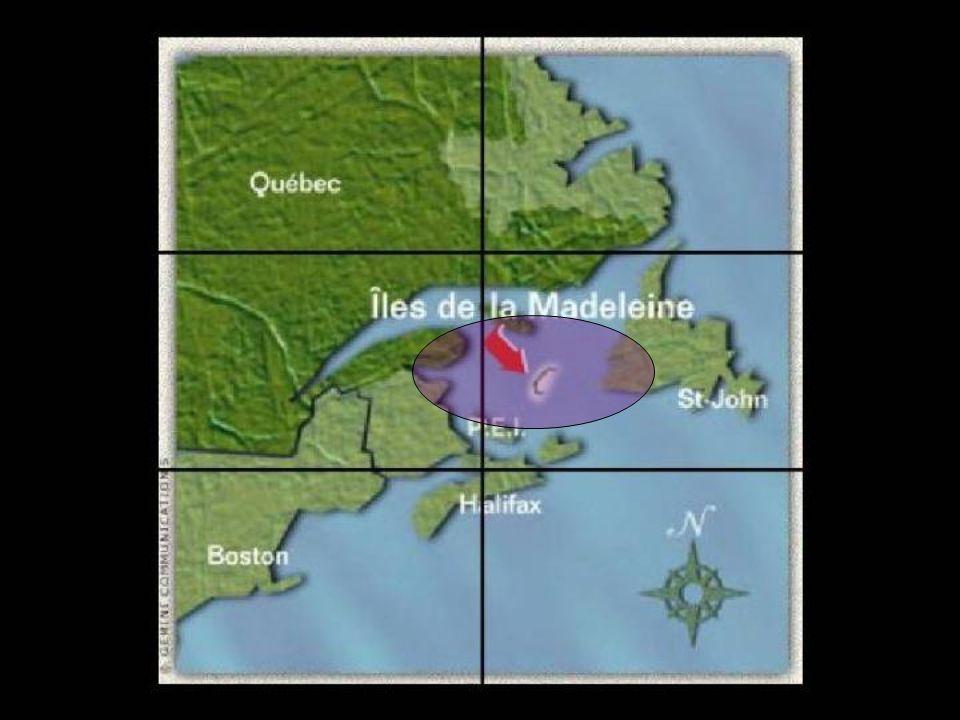 LARCHIPEL Larchipel des îles de la Madeleine est situé au coeur du golfe du Saint-Laurent, plus exactement à 215 km de la péninsule gaspésienne, à 105