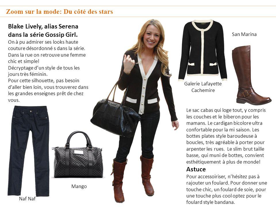 Zoom sur la mode: Du côté des stars Blake Lively, alias Serena dans la série Gossip Girl.
