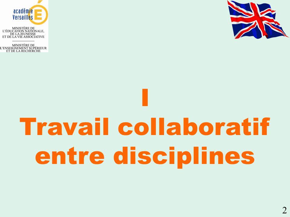 2 I Travail collaboratif entre disciplines