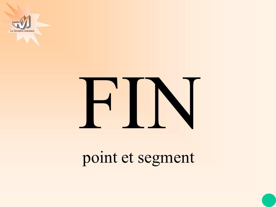 La Géométrie Autrement FIN point et segment