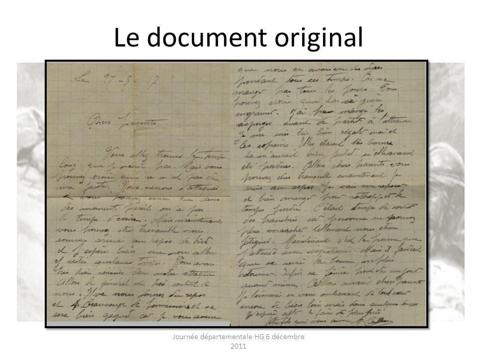 Le document original Journée départementale HG 6 décembre 2011