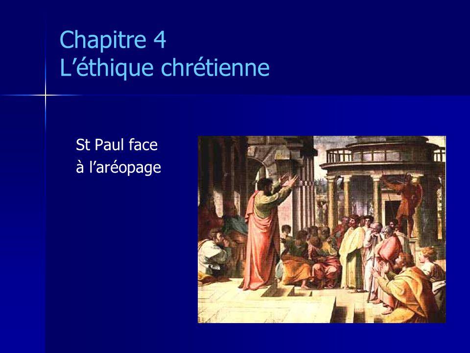 Chapitre 4 Léthique chrétienne St Paul face à laréopage
