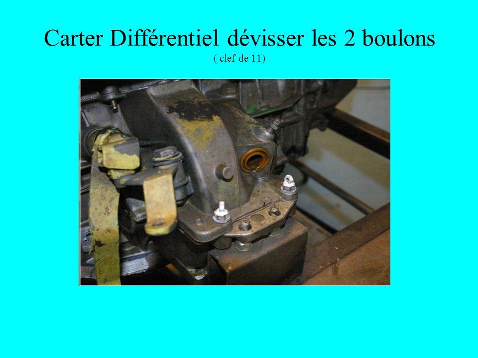 Carter Différentiel dévisser les 2 boulons ( clef de 11)