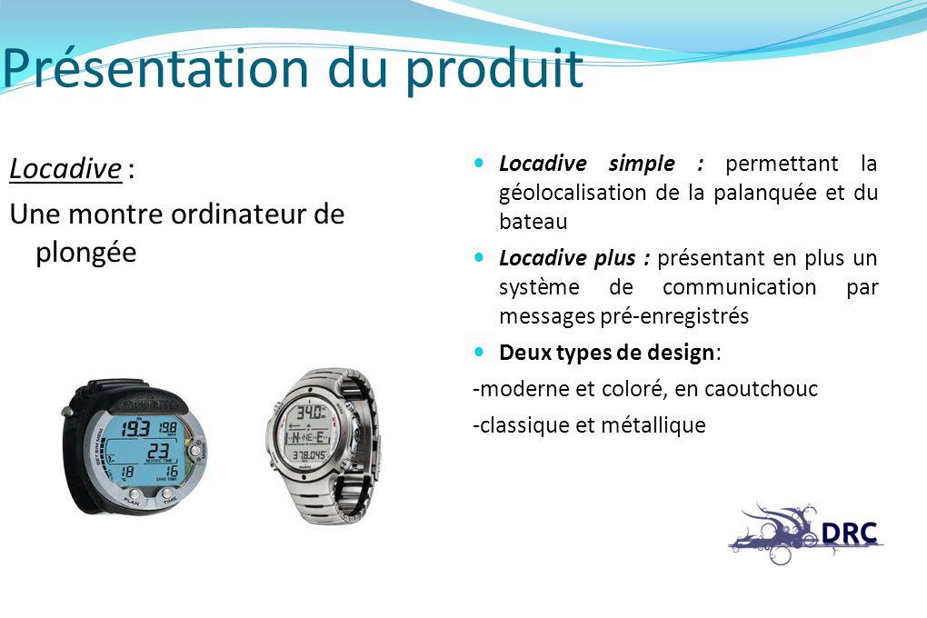 Présentation du produit Locadive : Une montre ordinateur de plongée Locadive simple : permettant la géolocalisation de la palanquée et du bateau Locad