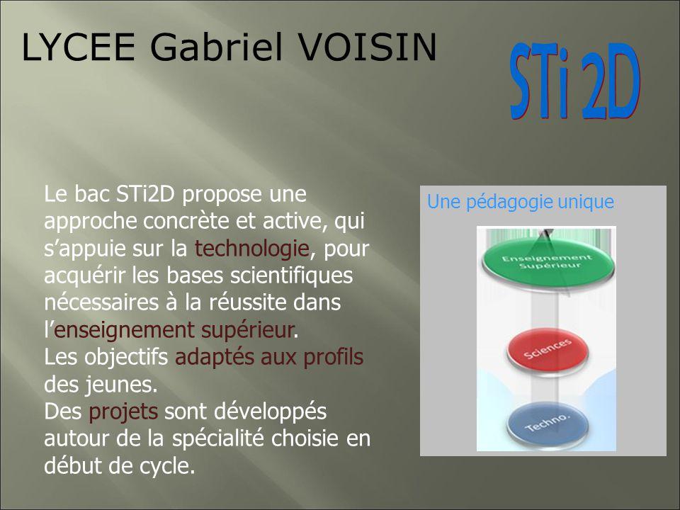 ITEC Innovation Technologique Eco Conception Les 4 spécialités du BAC STI2D Des enseignements transversaux Le développement durableUne pédagogie uniqu