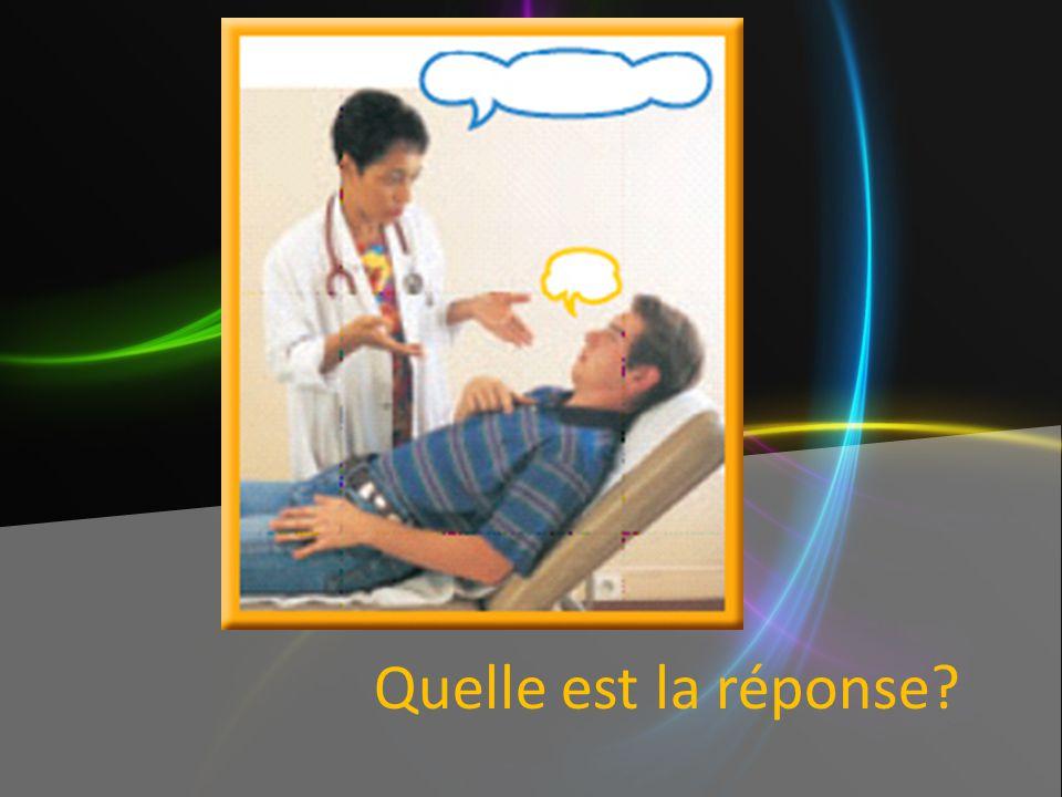 Mettez les phrases en ordre. le médecin un malade ______Le médecin examine le malade. ______Le malade ouvre la bouche. _______Le médecin examine la go