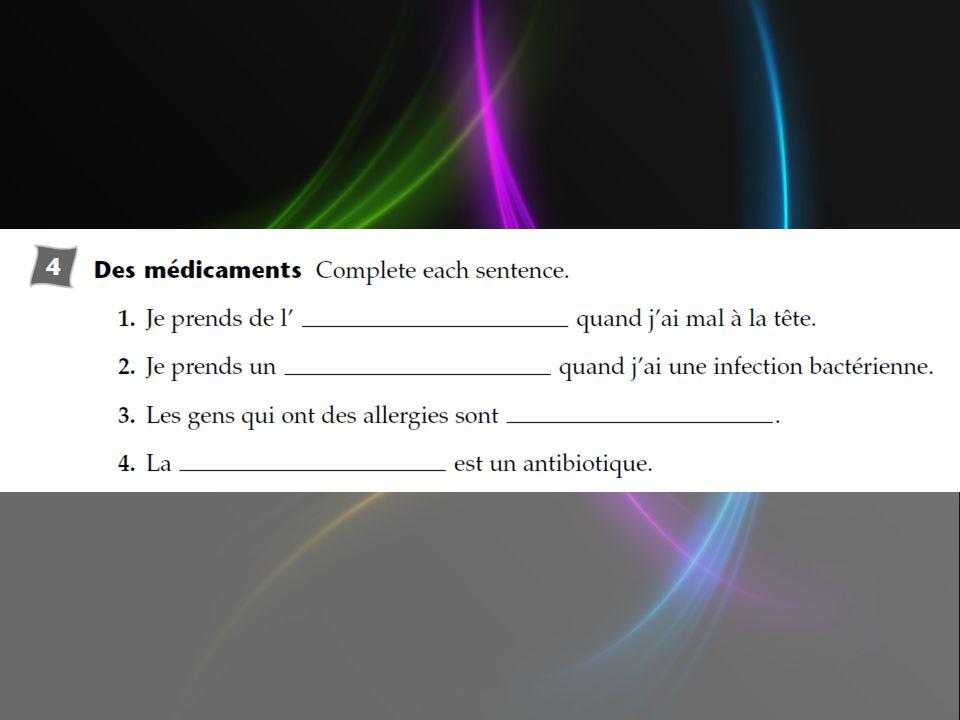 Mettez les phrases en ordre.le médecin un malade ______Le médecin examine le malade.