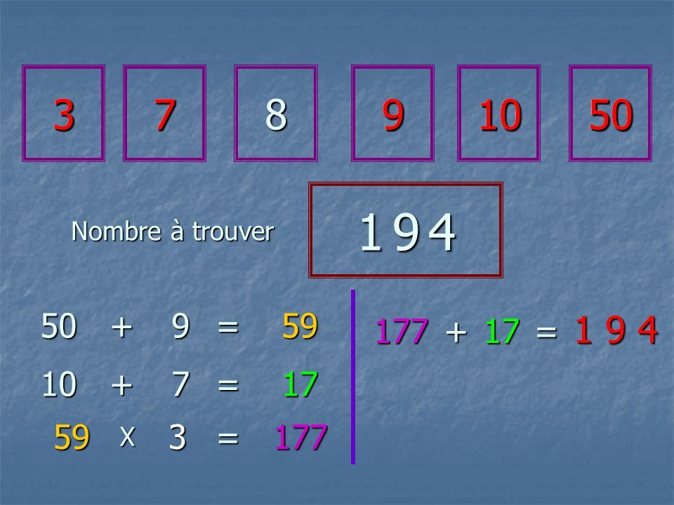 37891050 1 9 41 9 41 9 41 9 4 50+9=59 10+7=17 593 X= 1 9 4 177 177+17= 3791050