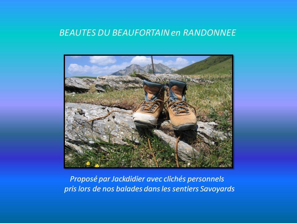 BEAUTES DU BEAUFORTAIN en RANDONNEE Proposé par Jackdidier avec clichés personnels pris lors de nos balades dans les sentiers Savoyards