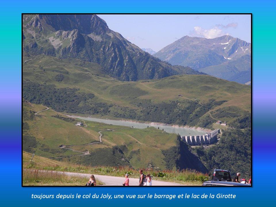 depuis le col du Joly, une vue magique sur le massif du Mont Blanc