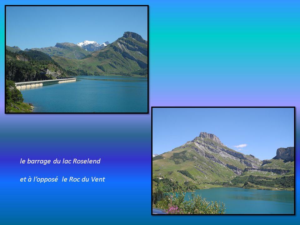 en approche du lac de Roselend,