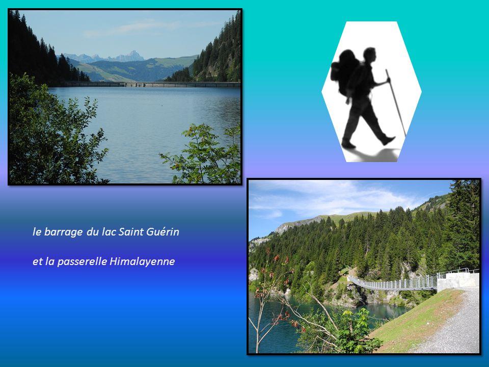 toujours depuis le col du Joly, une vue sur le barrage et le lac de la Girotte