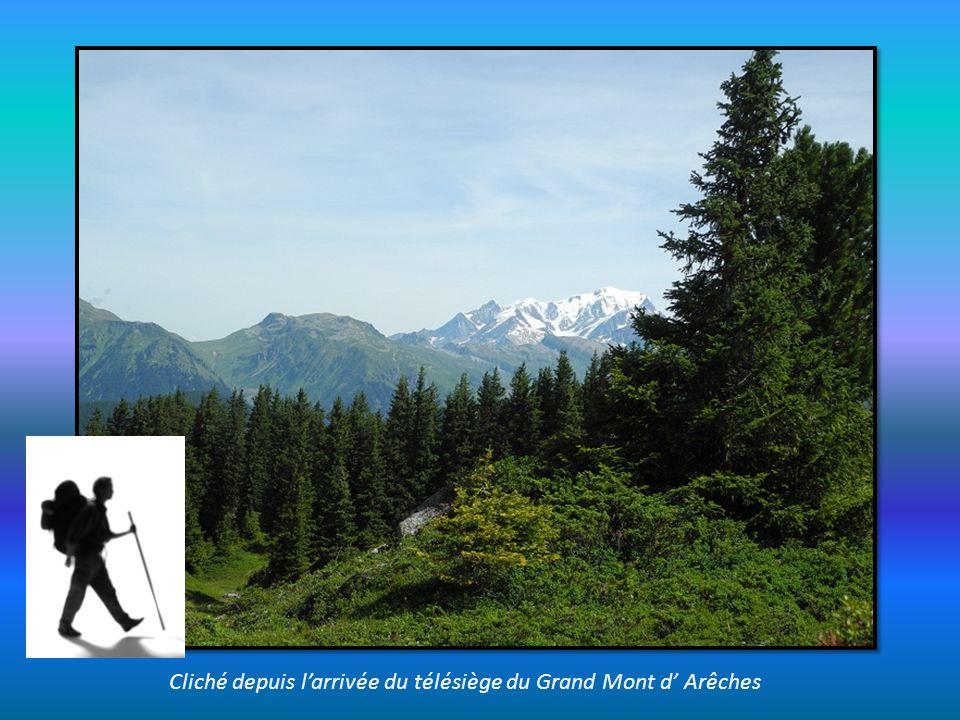 Cliché depuis larrivée du télésiège du Grand Mont d Arêches