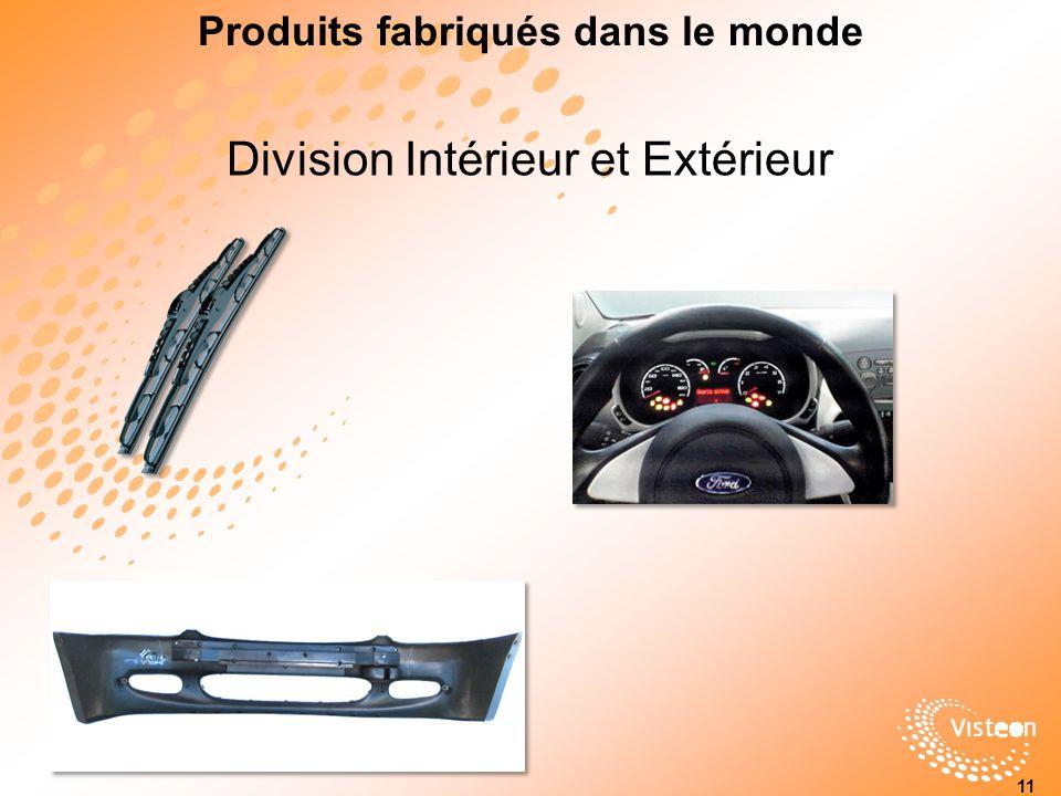 Division Intérieur et Extérieur Produits fabriqués dans le monde 11