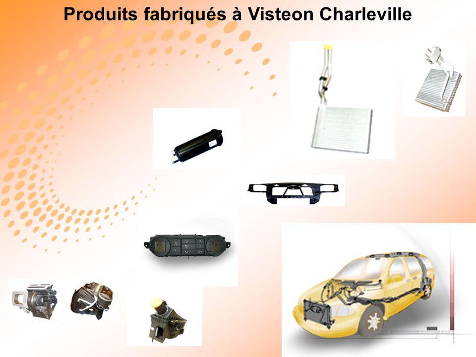 Produits fabriqués à Visteon Charleville 14