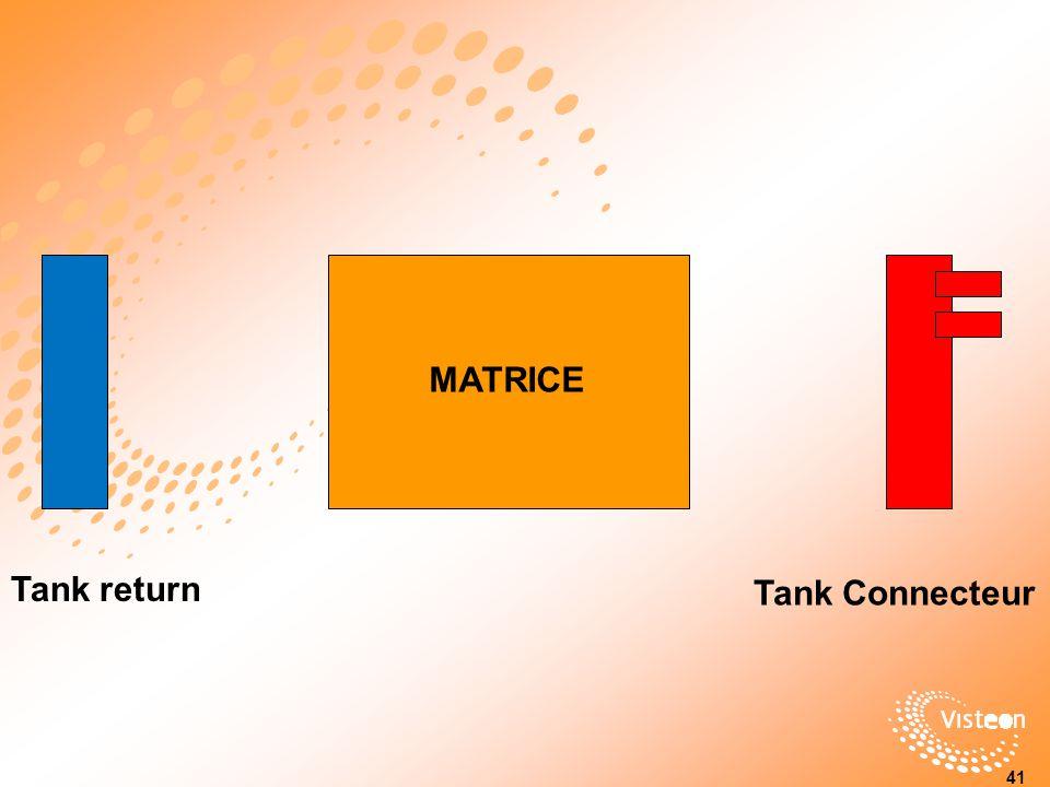MATRICE Tank return Tank Connecteur 34 41