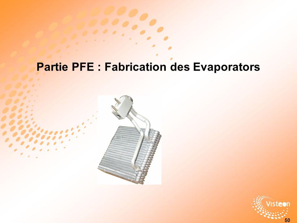Partie PFE : Fabrication des Evaporators 50