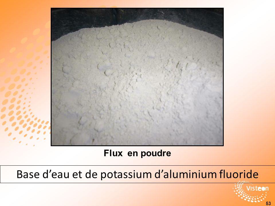Flux en poudre 53 Base deau et de potassium daluminium fluoride