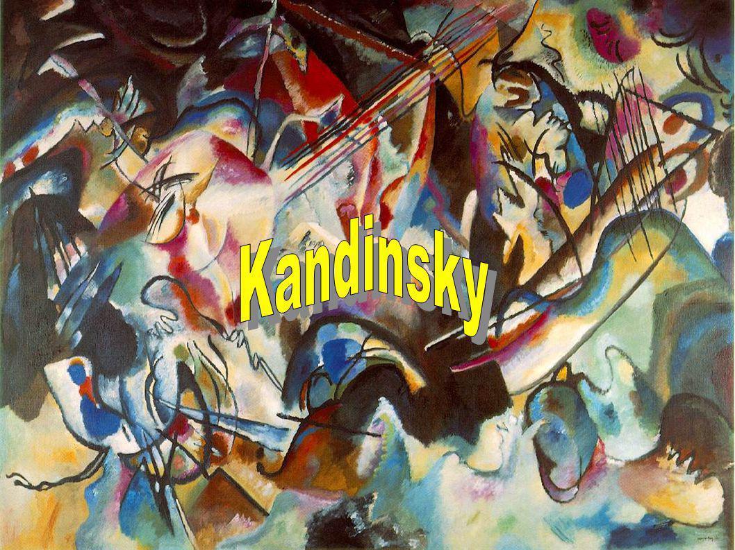 Kandinsky (Wassily) [1866-1944] Né à Moscou dans une famille aisée et cultivée, il commence par étudier le droit avant de renoncer tardivement à sa carrière universitaire pour entrer à lAcadémie des Beaux-arts de Munich en 1896.