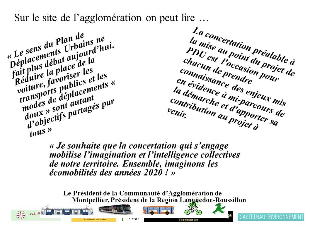 Sur le site de lagglomération on peut lire … « Je souhaite que la concertation qui sengage mobilise limagination et lintelligence collectives de notre territoire.