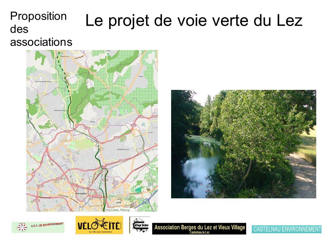 Le projet de voie verte du Lez Proposition des associations