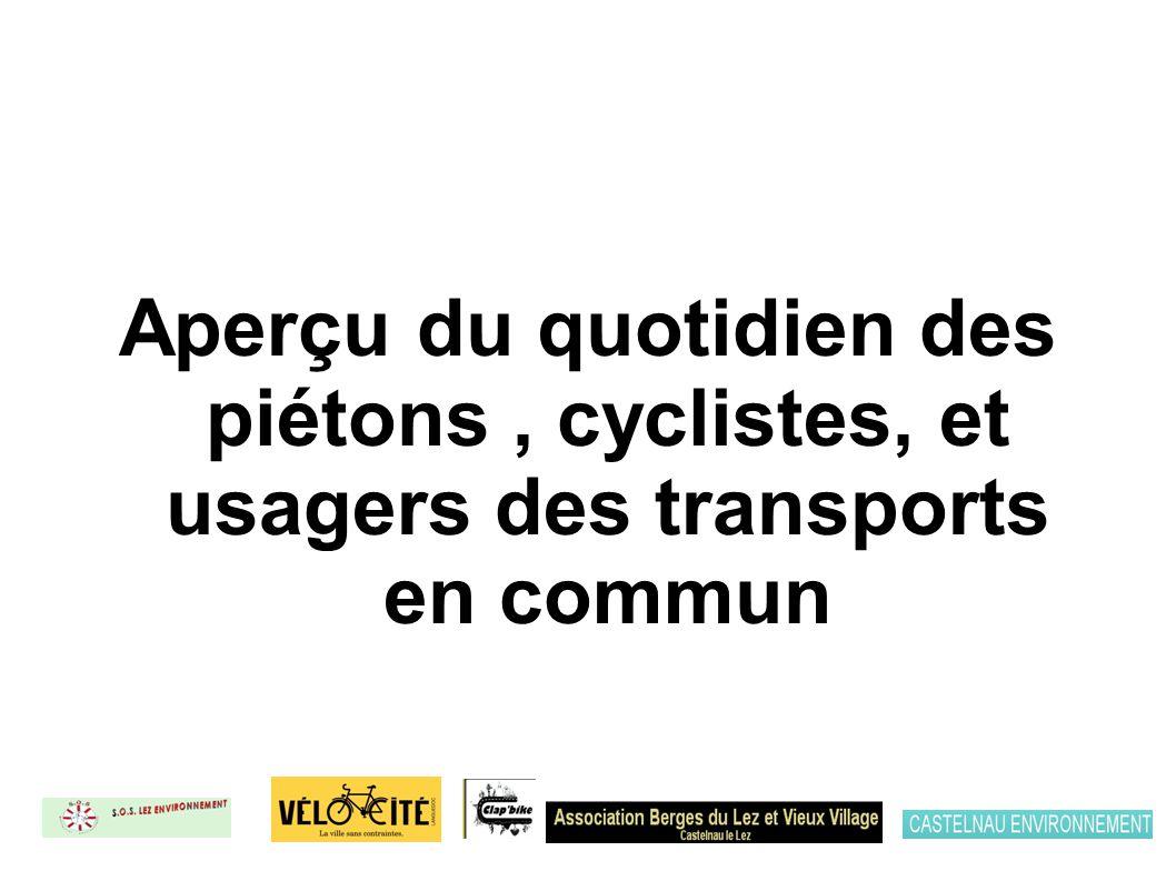 Aperçu du quotidien des piétons, cyclistes, et usagers des transports en commun