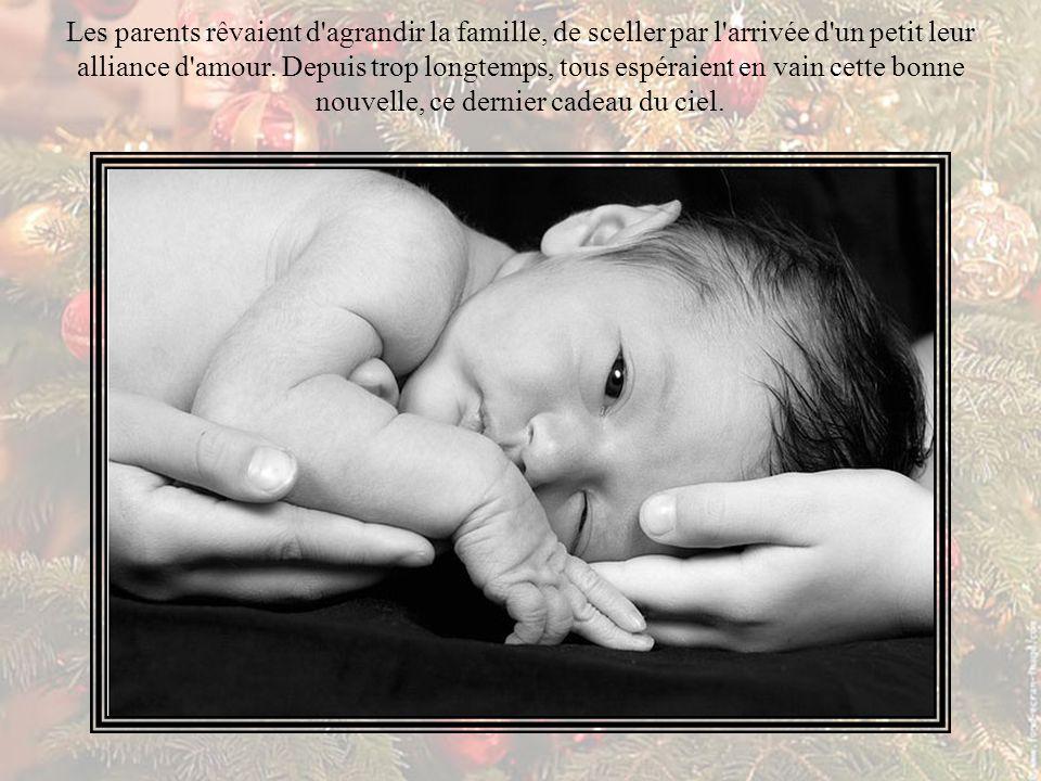 Au milieu de l étable, le petit nouveau-né de plâtre leur offrait dans un sourire sa promesse