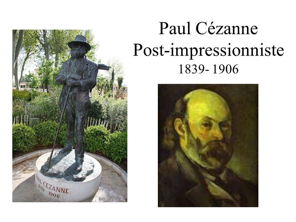 Les années de sa jeunesse Cézanne est né à Aix- en-Provence le 19 janvier de 1839.