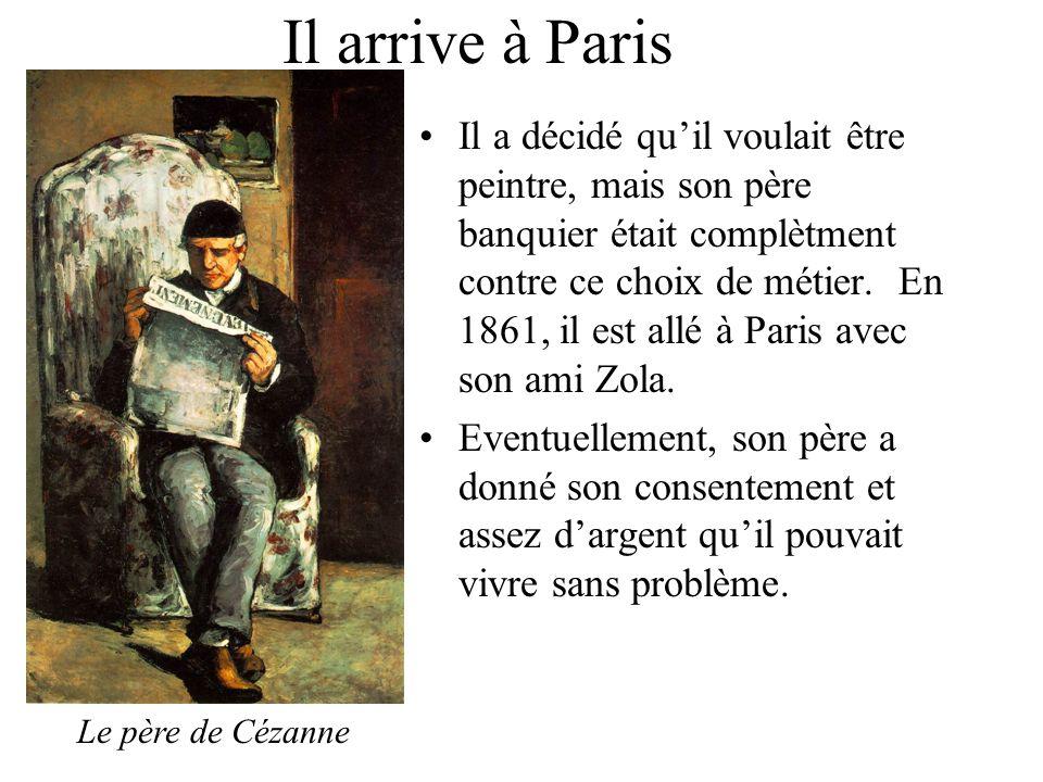 Cezanne, limpressionniste A Paris il a fait la connaissance de Camille Pissarro et les autres du groupe impressionniste.