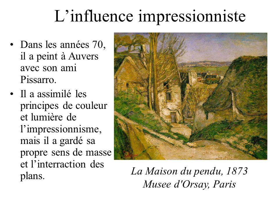 Linfluence impressionniste Dans les années 70, il a peint à Auvers avec son ami Pissarro. Il a assimilé les principes de couleur et lumière de limpres