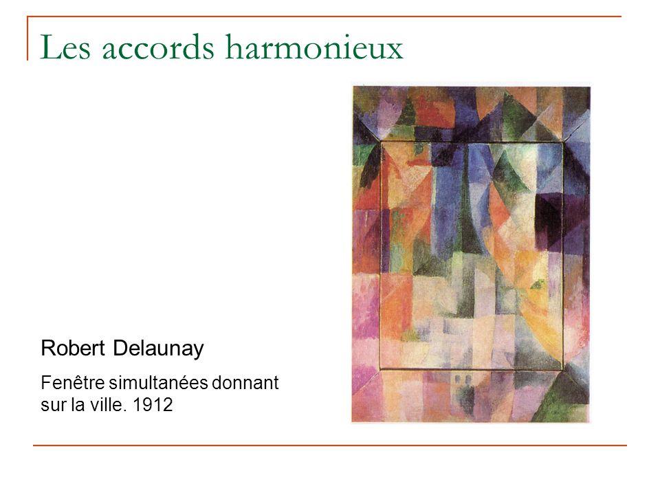 Les accords harmonieux Robert Delaunay Fenêtre simultanées donnant sur la ville. 1912