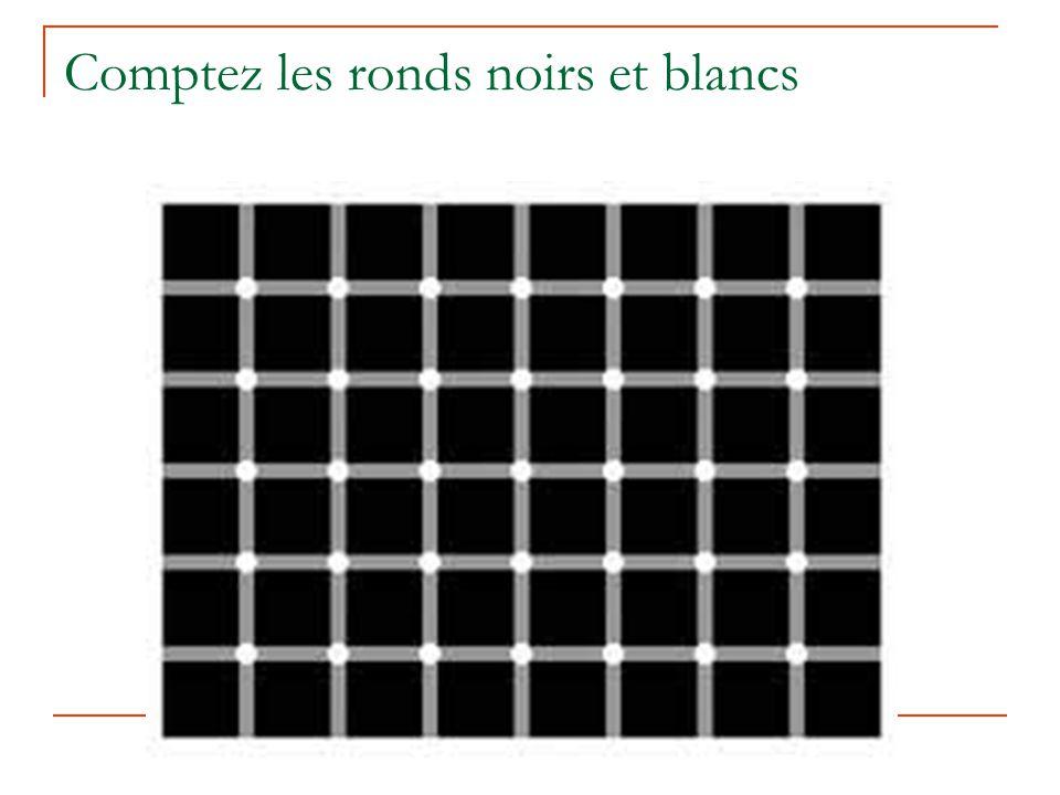 Comptez les ronds noirs et blancs