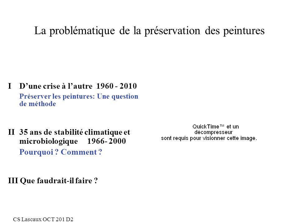 La problématique de la préservation des peintures I Dune crise à lautre 1960 - 2010 Préserver les peintures: Une question de méthode II35 ans de stabi