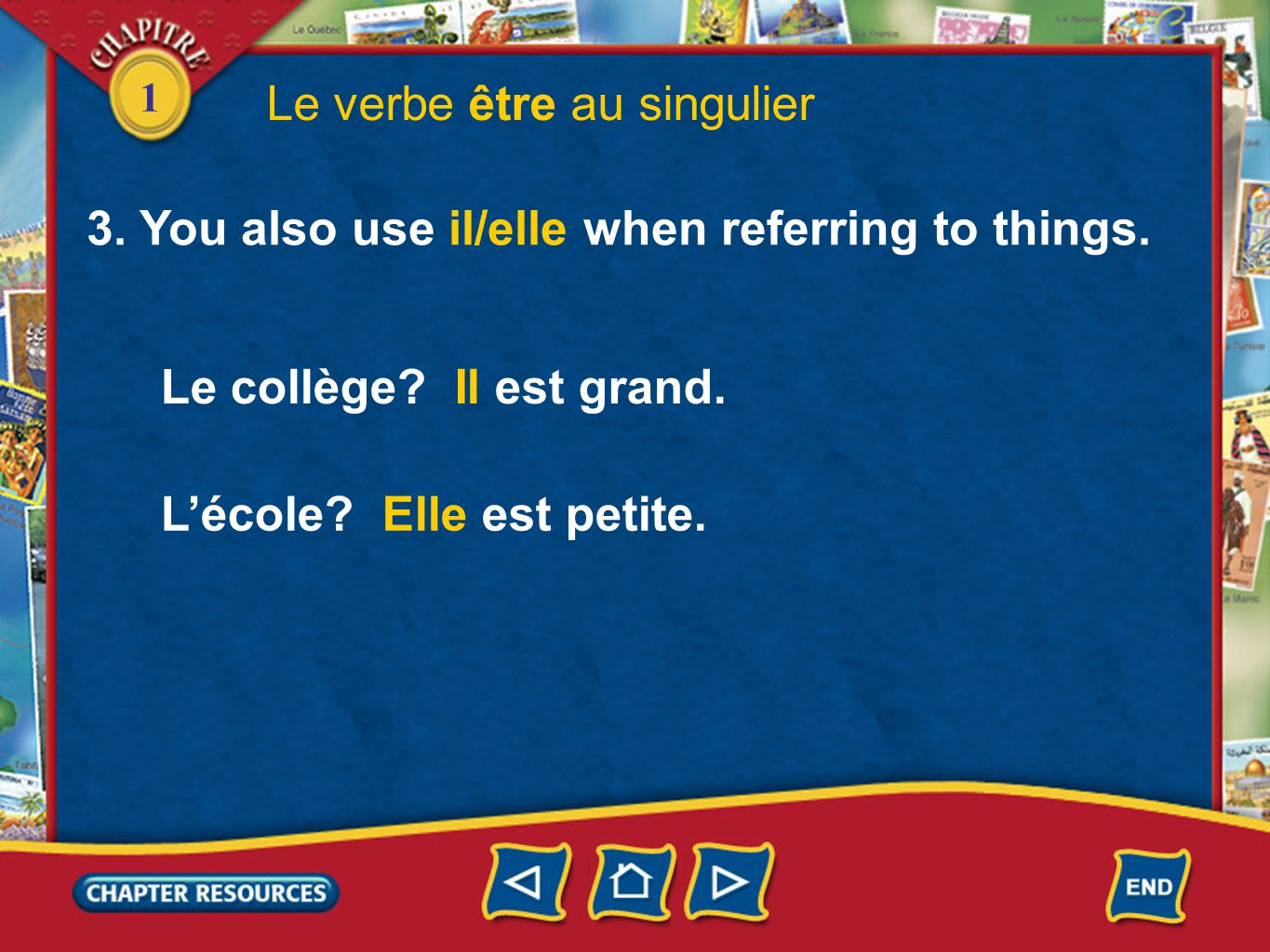 1 3.You also use il/elle when referring to things.