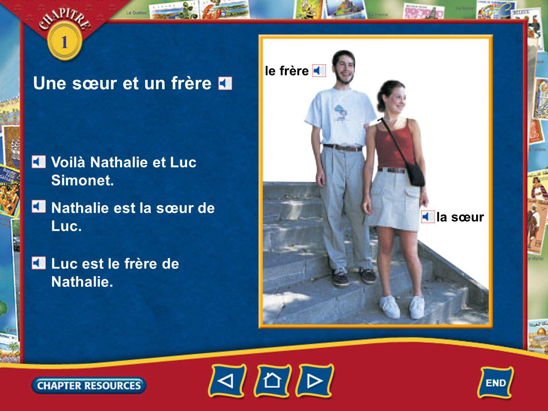 1 une amie un ami Voilà Philippe.Philippe nest pas le frère de Nathalie.