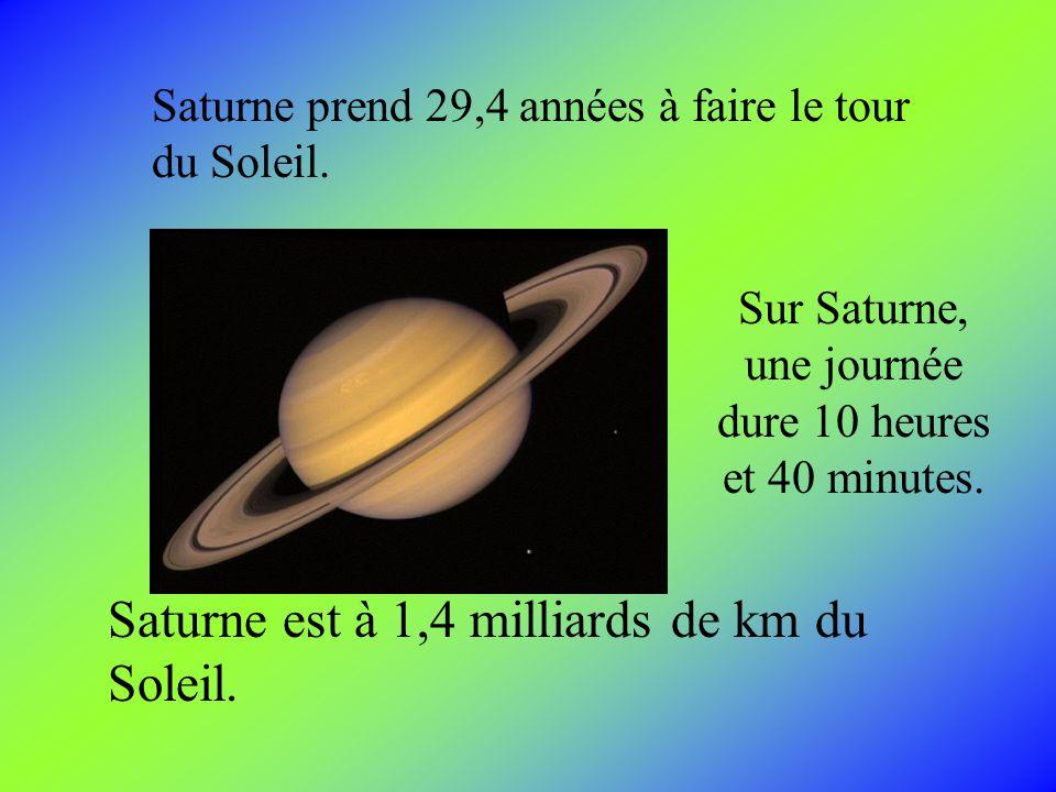 Les anneaux sont composés de particules de roches et de glace de la grosseur dun grain de sel et dautre dune maison. Saturne a sept couches danneaux