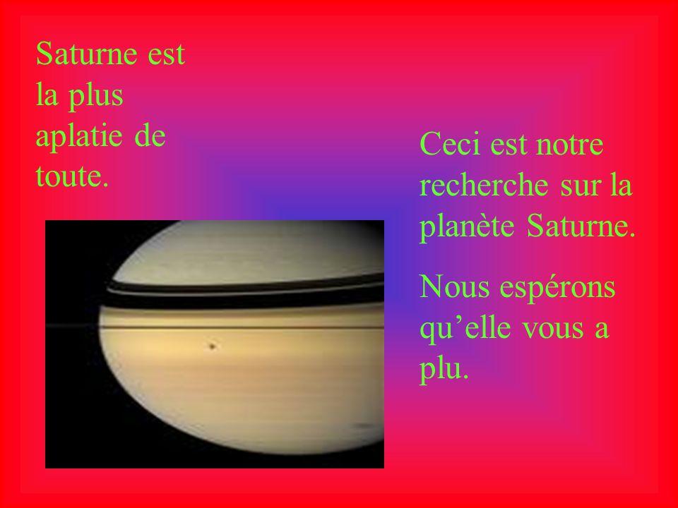 Elle a 22 satellites et la plupart sont de la grosseur de petits glaçons. Titan est le plus gros satellite de Saturne. Titan, lune de Saturne Lanneau