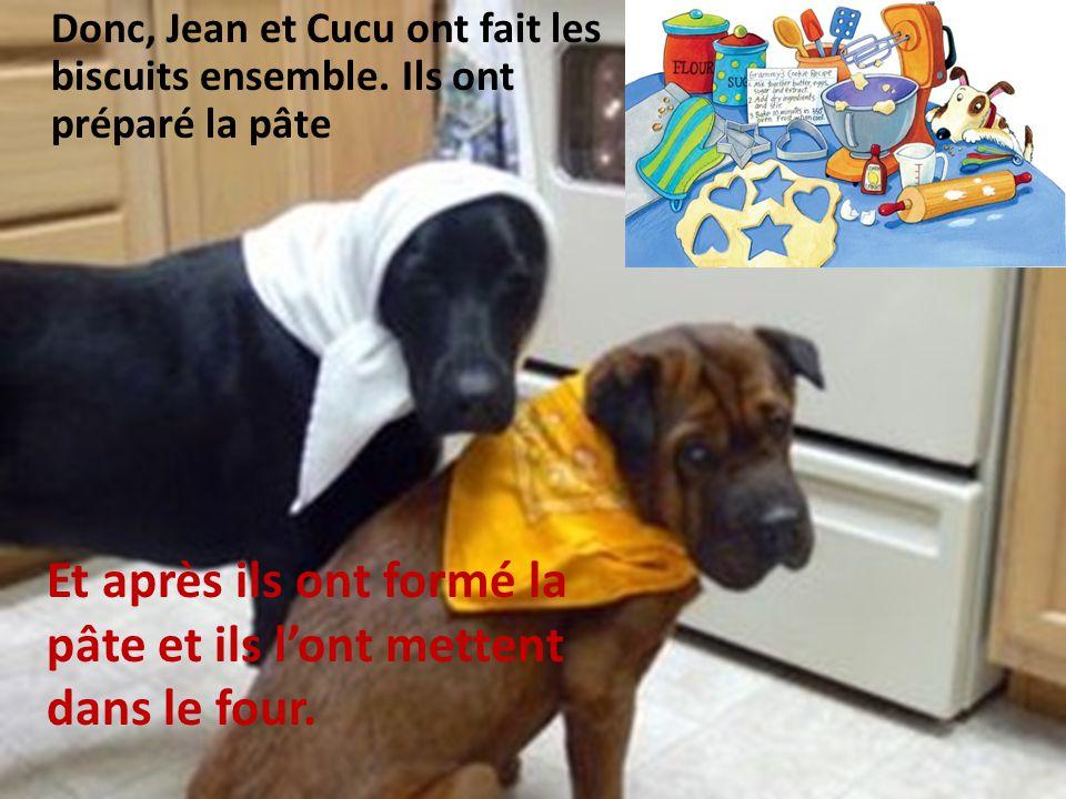 Donc, Jean et Cucu ont fait les biscuits ensemble.
